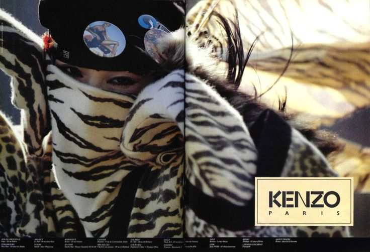 Kenzo Fall 1983 Campaign by Hans Feurer
