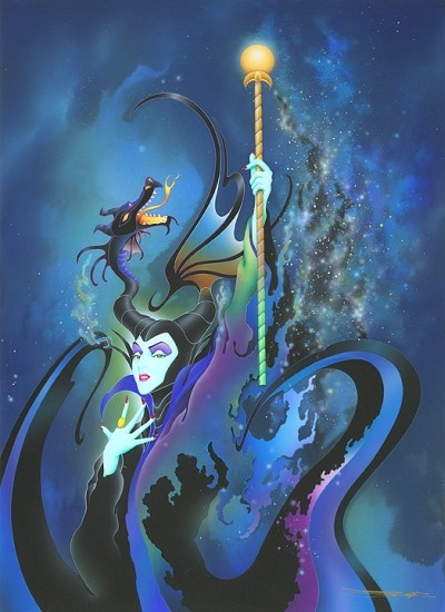 Disney Fine Art - Become The Dragon. Maleficent. Biggs Ltd. Gallery. Heirloom quality bridal, art, baby gifts and home decor. 1-800-362-0677. $350.