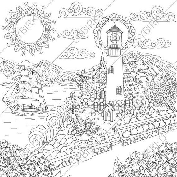 Coloring Pages For Adults Lighthouse Light House