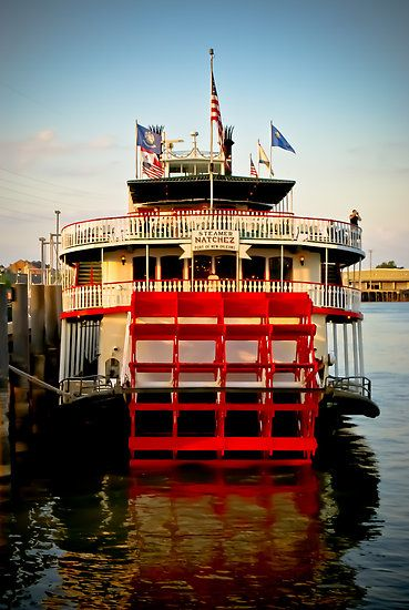 Steamboat Natchez docked at its home port along the banks of the mighty Mississippi River