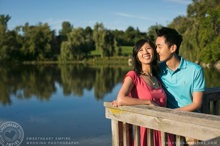 By the pond at Toogood Pond Park. Unionville, engagement session. #sweetheartempirephotography