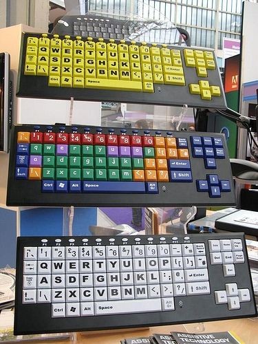 these key boards make integrating technology in the classroom easier for students to learn and visualize certain keys.