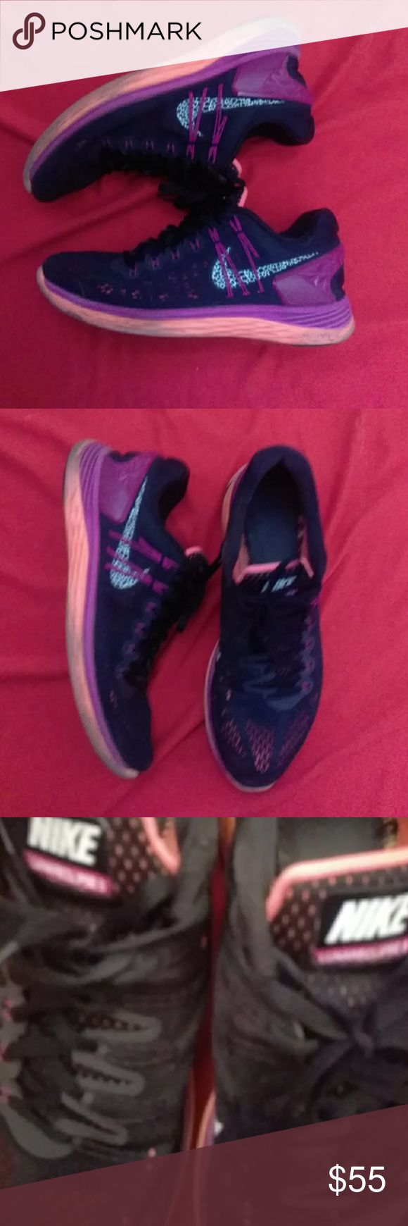 Nike lunar eclipse Good condition Nike lunar eclipse size 10 pink,orange and black. Normal wear.💫5 star seller check out my stats and my other listings:) Nike Shoes