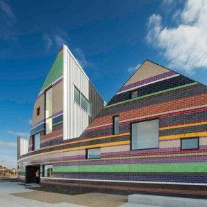 Stripy Melbourne school by McBride Charles Ryan  mirrors the local skyline