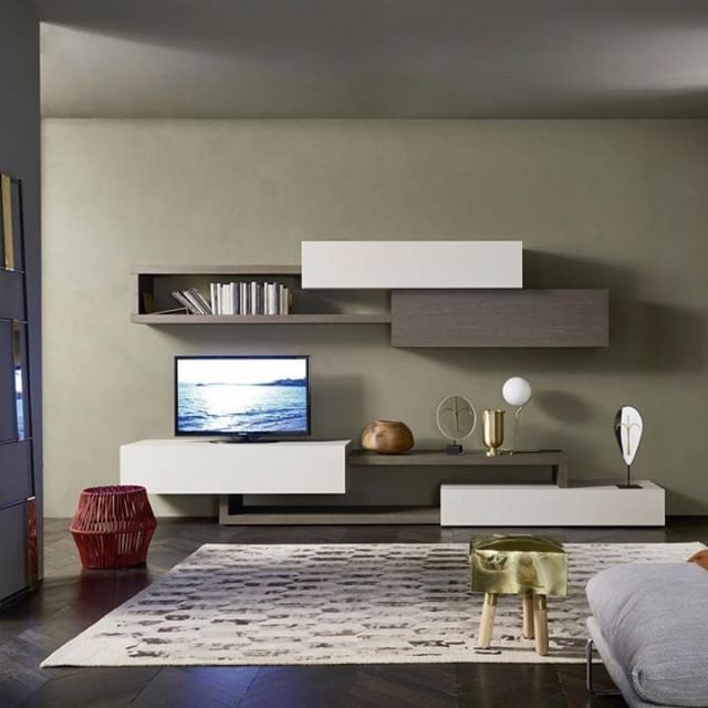 Livitalia Wohnwand C28 With Images Living Room Tv Wall Living