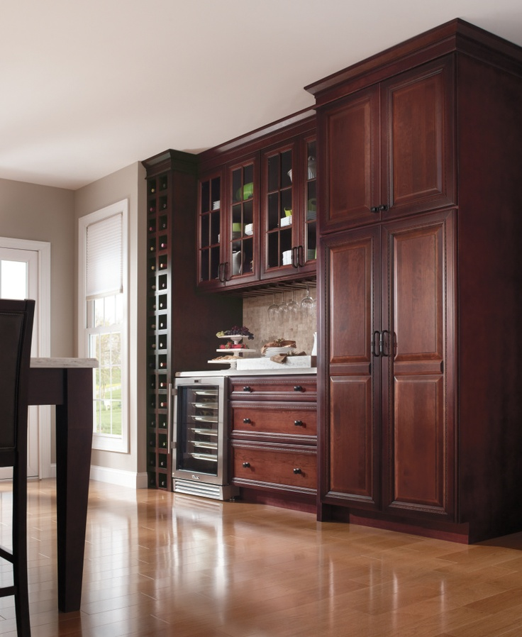 66 best 39 not just for kitchens 39 cabinetry images on for Cherry kitchen cabinets with glass doors