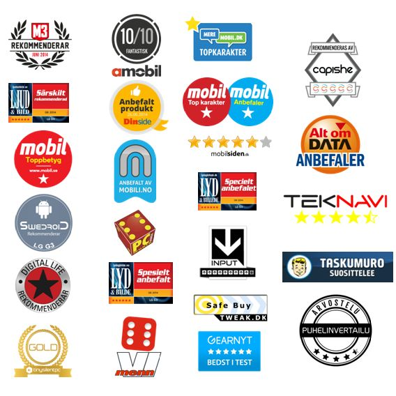 All the awards the LG G3 have gotten in Sweden, Norway, Finland and Denmark so far. Our most awarded smartphone to date!