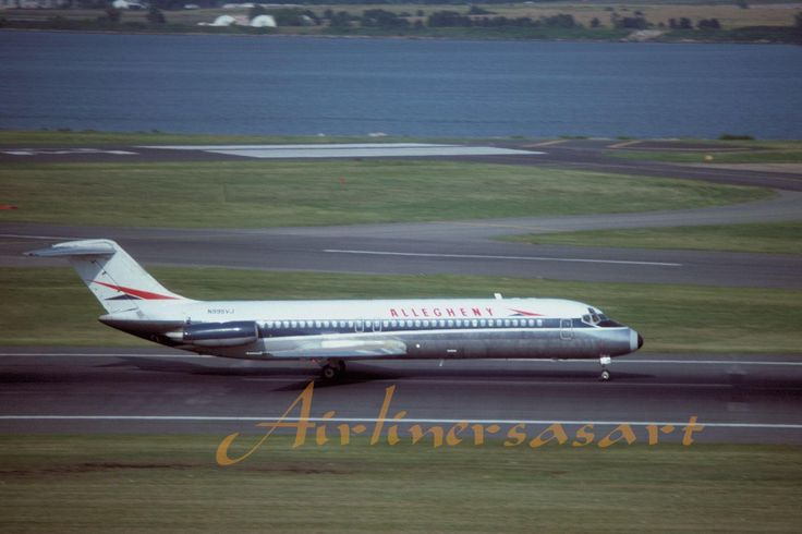 Allegheny Airlines Douglas DC-9-31 N995VJ at DCA June 1975 8x12 Color Print