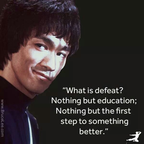 A master of body only because he learned to master his mind first. Bruce Lee.