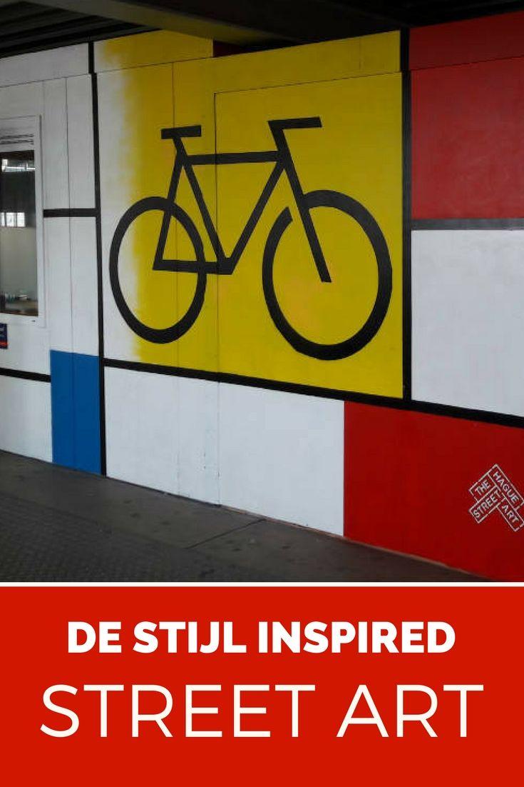Street art inspired bij Dutch art movement De Stijl. Spot the best art works in The Netherlands.