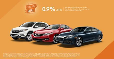 You could get an awesome deal on a Honda Certified Pre-Owned Vehicle from Rensselaer Honda.