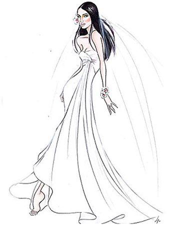 Megan Fox wedding gown by #GiorgioArmani