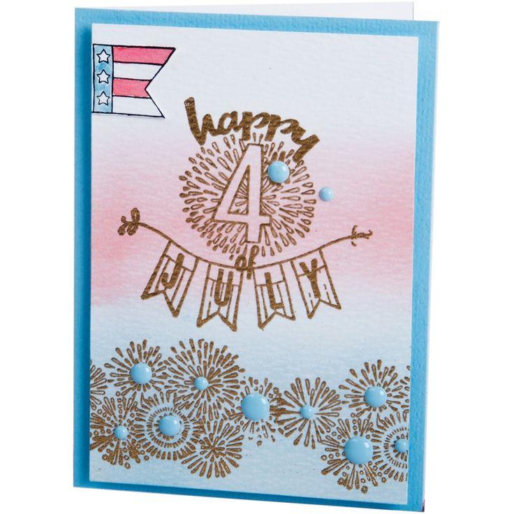 Sizzix Clear Stamps By Jen Long-Fireworks & Sparklers - fireworks & sparklers