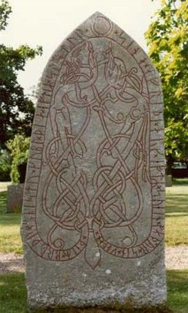 Rune Stone, 11th Century CE. Sanby, Sweden. http://www.odinsvolk.ca/runes.htm