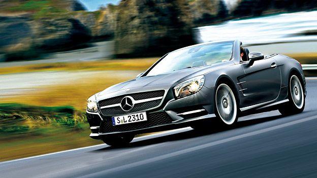 Mercedes SL350 und SL500 http://www.autorevue.at/best_of_test/modellvorstellung/mercedes-benz-sl-sl350-sl500-test.html