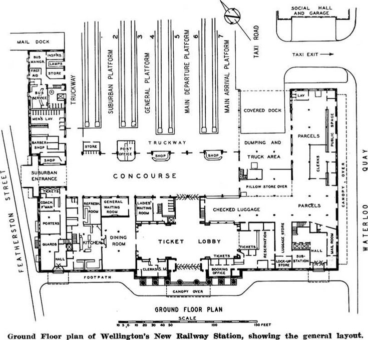 Ground floor plan of wellingtons new railway station for Floor plans for 160 000