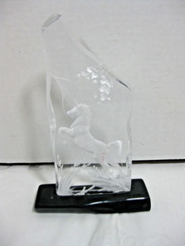 Carved-Lucite-Unicorn-Paperweight-Shelf-Decor-Black-Base