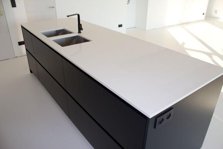 moderne keuken zwart wit - Google zoeken