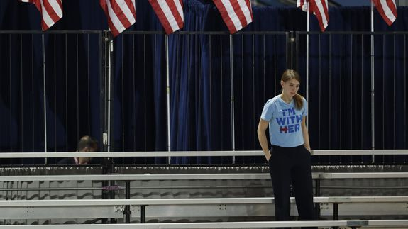Eerie photos from the aftermath of the Hillary Clinton party that wasn't