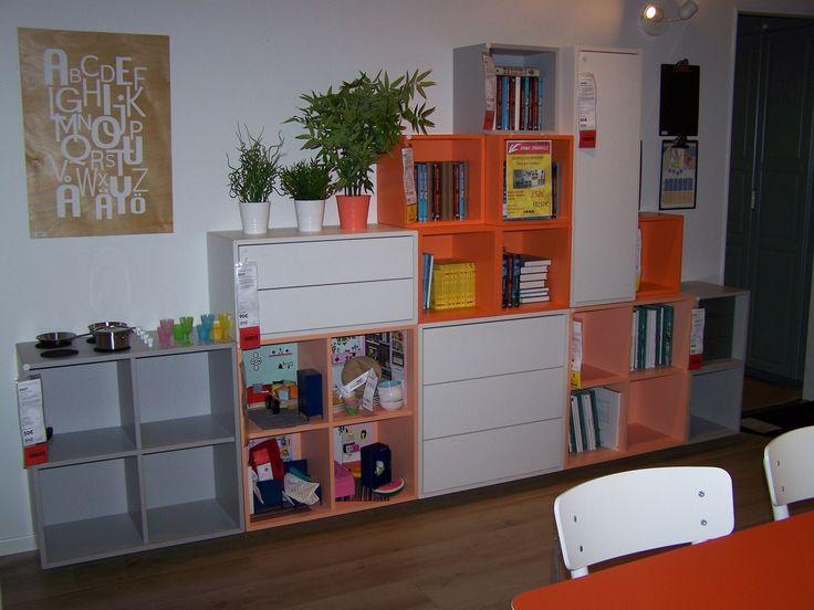 les 25 meilleures id es de la cat gorie ikea eket sur pinterest tag res basses unit de t l. Black Bedroom Furniture Sets. Home Design Ideas