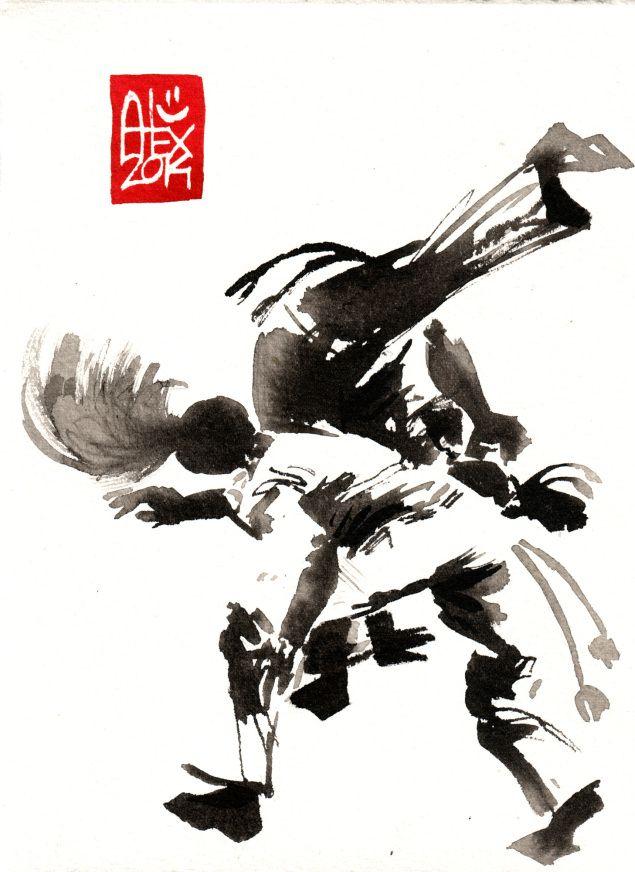Encres : Capoeira – 645 [ #capoeira #watercolor #illustration]