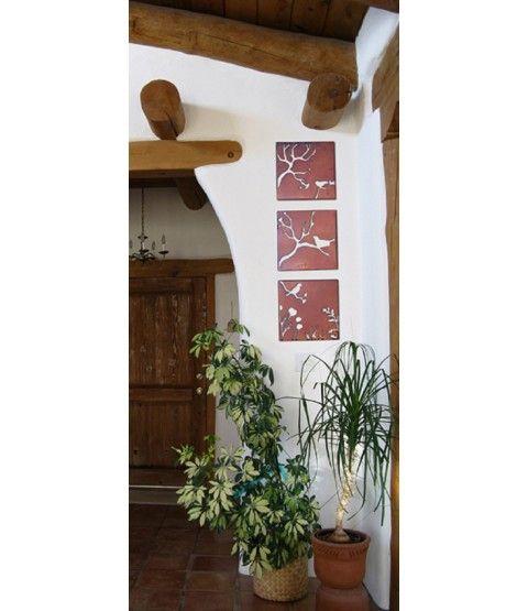 ferrum edelrost bild triologie vogelbaum 3er set 8 0079 edelrost edelrost deko und wandbilder. Black Bedroom Furniture Sets. Home Design Ideas