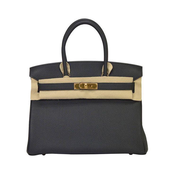 Birkin 30 Black Epsom Leather Gold Harware