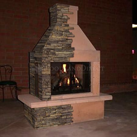 Mirage Stone 3 Sided Wood Burning Outdoor Fireplace Form