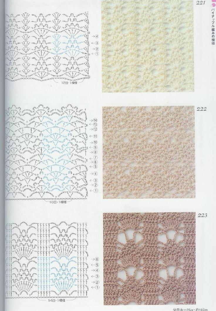 Mejores 110 imágenes de Puntos de crochet en Pinterest | Patrones de ...