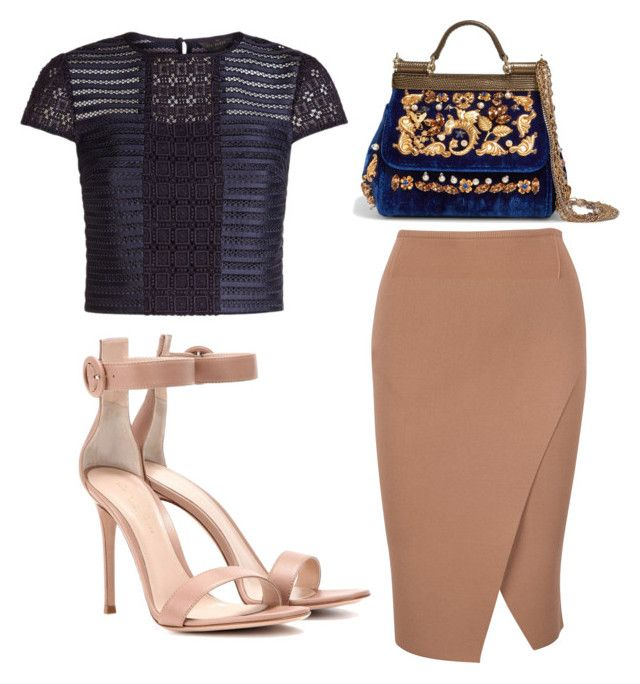 Untitled #3557 by evalentina92 on Polyvore featuring polyvore fashion style Ted Baker Gianvito Rossi Dolce&Gabbana clothing