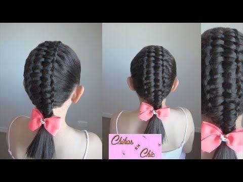 Trenza Doble-Trenza Pasacinta Doble | Chikas Chic - YouTube