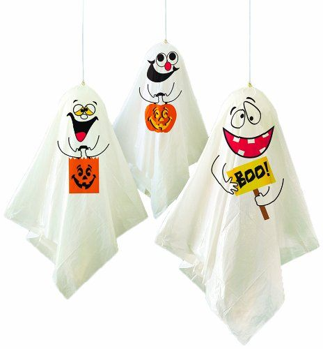 "35"" Hanging Ghost Halloween Decorations 3ct"
