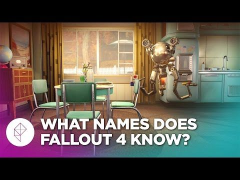 Fallout 4's script is so large (how large is it!) It's so large that Codworth, who is your robot butler in the game can say more than 1,000 names, in the video below they test what can and can't be said by Codsworth, with sexy results!