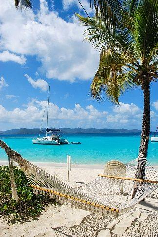 The best beach bar in the Caribbean (possibly the world) - Soggy Dollar Bar, Jost Van Dyke. Dibs on the hammock.