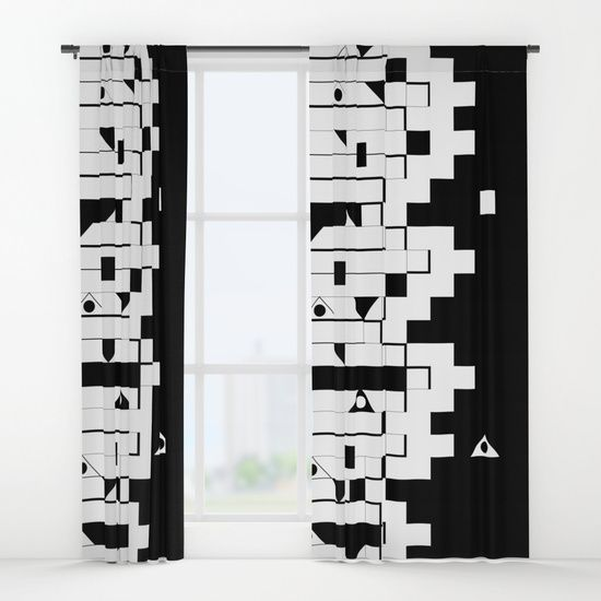 Black and white Window Curtains