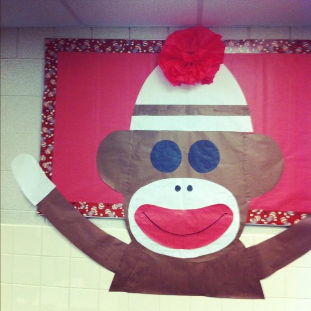 OMG!!  Sock Monkey bulletin board!  I found my welcome board!!
