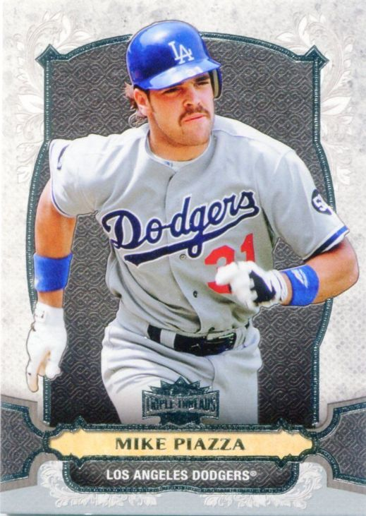 Dodgers Blue Heaven: 2014 Topps Triple Threads Baseball - The Dodger Base Cards #31 Mike Piazza