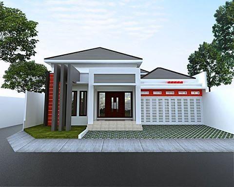 Rumah Minimalis Sederhana 1 Lantai Tampak Depan Bergaya Modern