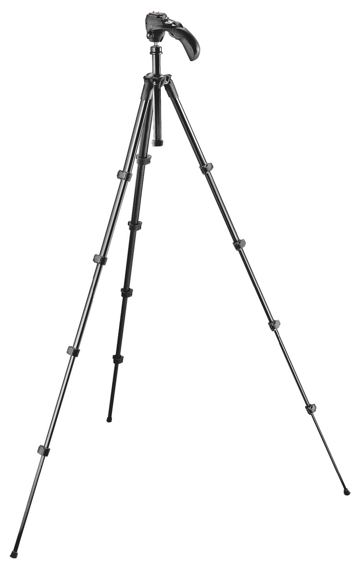 Manfrotto 785B Compact Series Tripod With Built-in Photo/movie Head - Black