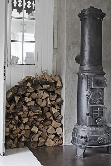 I really want a wood heat stove and a wood cook stove in my house.
