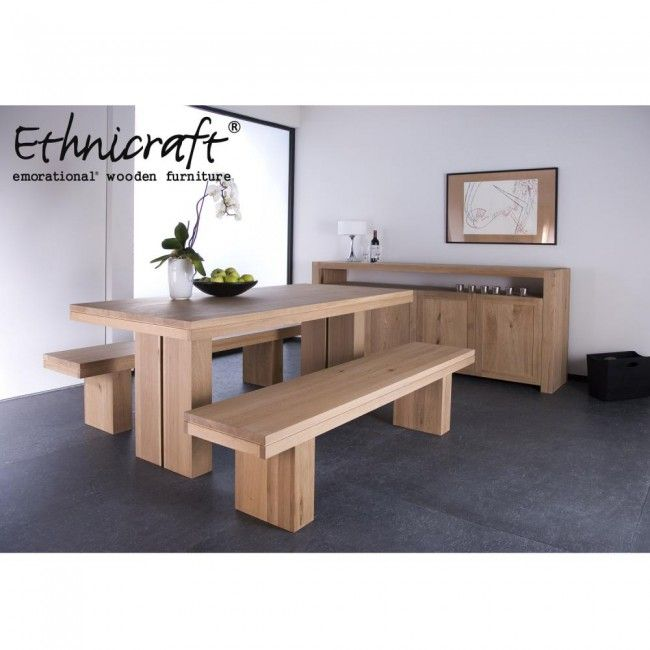 Ethnicraft Oak Double Dining Table