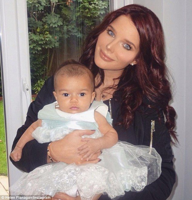 Mummy's little princess! Helen Flanagan dressed her daughter Matilda in an adorable tulle frock on Sunday