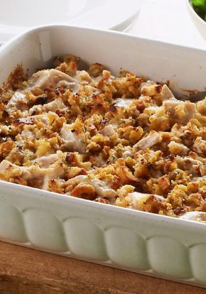 STOVE TOP One-Dish Chicken Bake – Comfort food gets even cozier when stuffing is involved. Add chicken and sour cream and you've got a piping-hot reason to run, not walk, to the table.