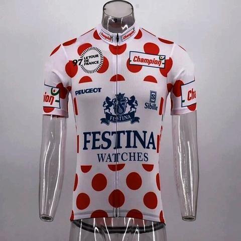 Brand New Retro Team Miko Mercier Vivagel Cycling Jersey