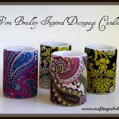 decoupage candles DIY