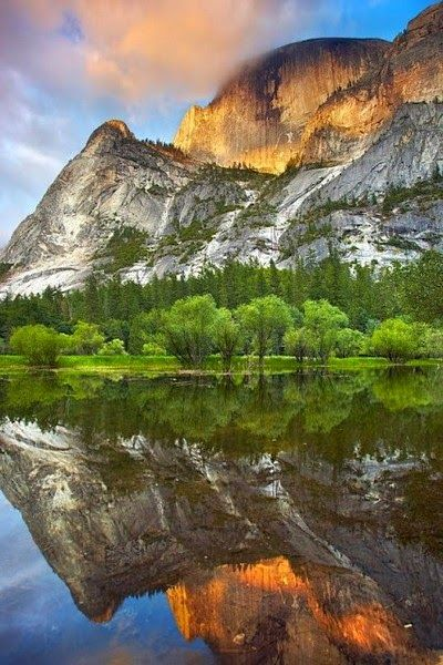 Amazing Lakes- California -Mirror Lake Yosemite National Park-California
