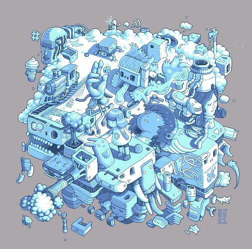 """Paul Robertson animates a sketch by Jacky Ke Jiang AKA """"AutoKite"""""""