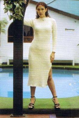 Wadenlanges #Kleid, geschlitzt, aus #ökologischer #Baumwolle