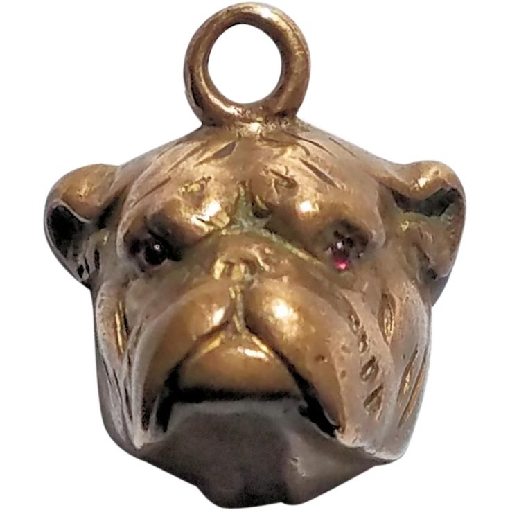 Victorian Bulldog Fob/Charm with Monogram Seal..