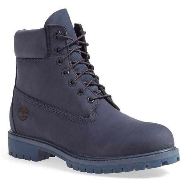 Men's Timberland 'six Inch Classic Boots Series - Premium' Boot ($190) ❤ liked on Polyvore featuring men's fashion, men's shoes, men's boots, men's work boots, navy monochromatic, mens boots, timberland mens work boots, mens waterproof boots, mens work boots and timberland mens boots